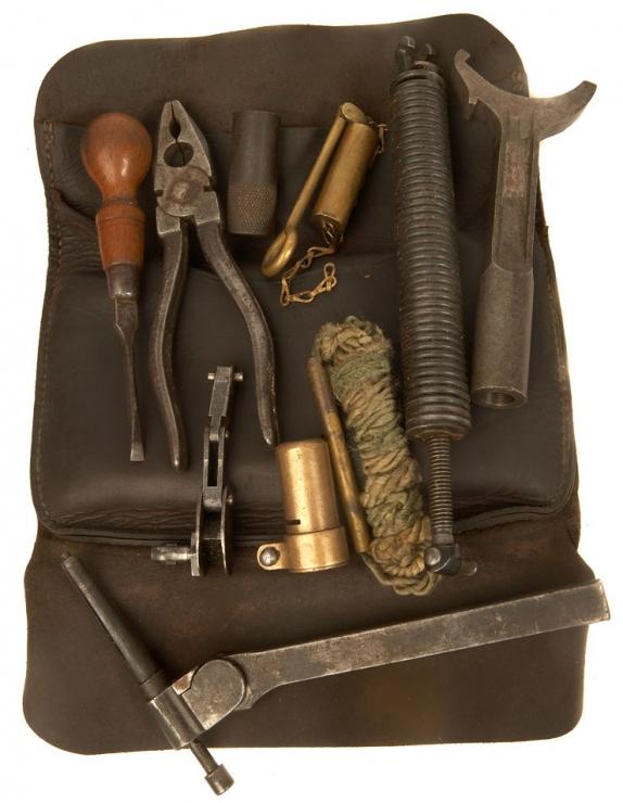 WWI & WWII Vickers Machine Gun Spares / Tool Kit - Militaria