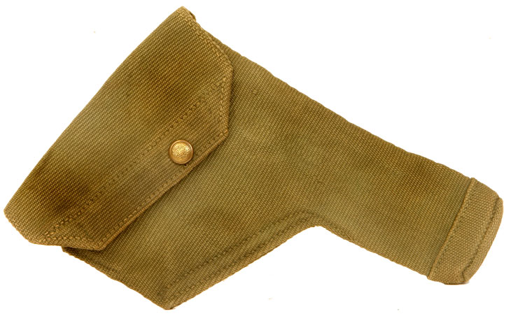 WWII British Webley or Enfield .38 Canvas Holster