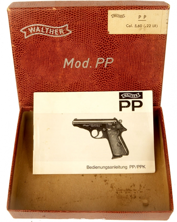 Walther PP pistol box with and original owners manual
