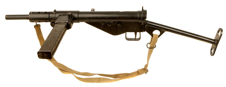 Deactivated WWII Sten MKII with moving parts - Allied