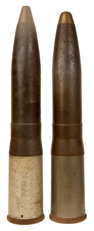 Inert British 76mm L23A1 Drill rounds - Militaria