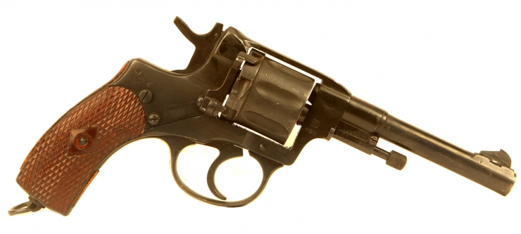 Deactivated Pre WWII Russian M1895 Nagant Revolver