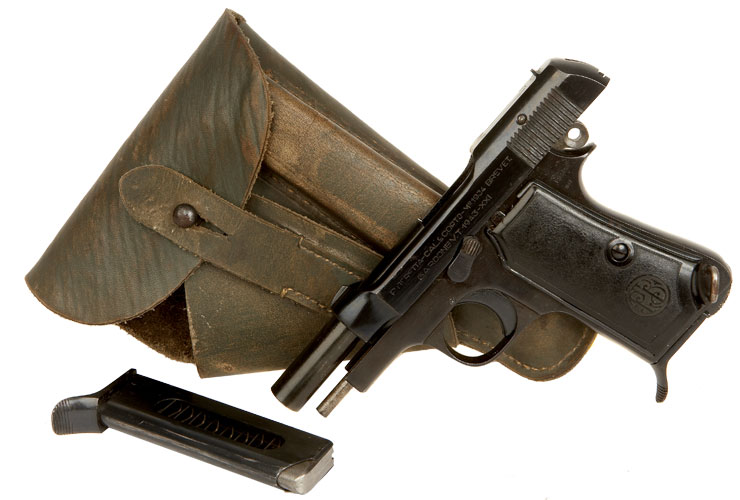 Deactivated WWII Issued Beretta Model 1934 Pistol - Axis