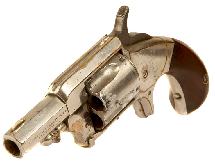 Antique Obsolete Calibre Whitneyville Armory, Model No 2 1/2 .38 rimfire revolver.