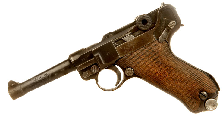 Deactivated WWI Nazi PO8 Luger - All Matching