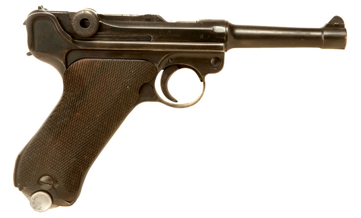 Deactivated Wwii Nazi Military Issued Luger Axis