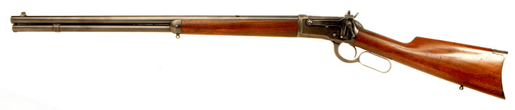 Winchester Model 1892 under lever rifle, chambered in .38 WCF