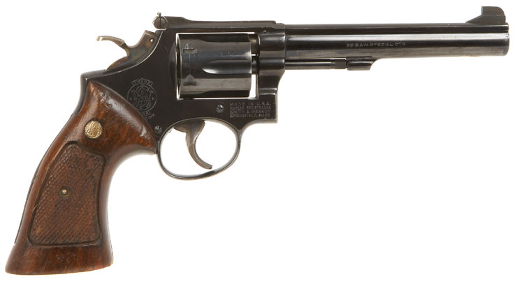Deactivated smith amp wesson model 14 3 38 special revolver modern