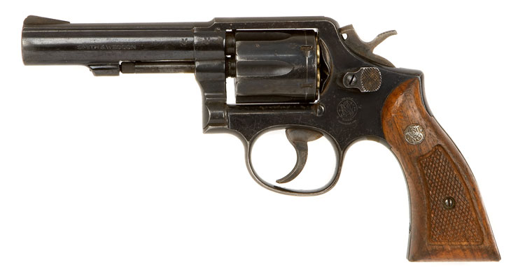 Deactivated old spec smith amp wesson 38 special model 10 8 revolver