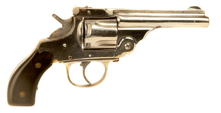Deactivated Smith & Wesson style plated Revolver