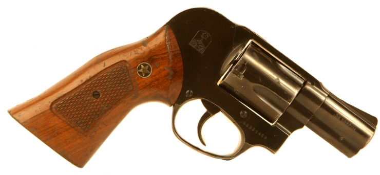 Deactivated South African 38 Snub Nose Revolver