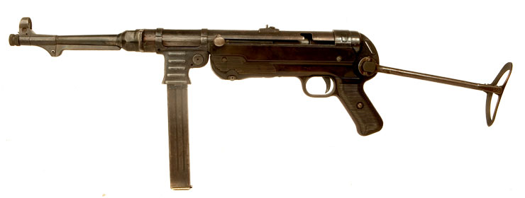 Deactivated WWII German MP40 Submachine Gun