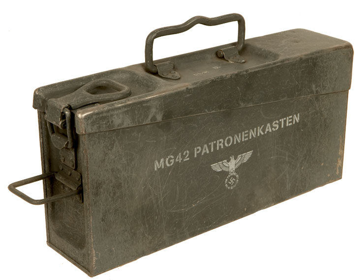WWII German MG42 ammunition box