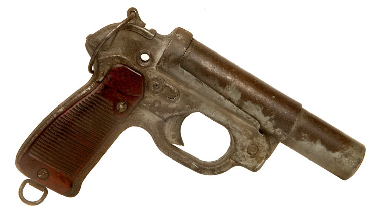 Deactivated WWII German German LP-42 flare / signal pistol, Luftwaffe issued