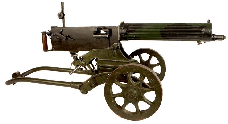 machine gun with