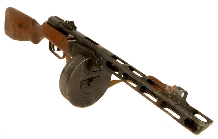 Deactivated WWII Russian PPSH41 Dated 1943 - Battle of Stalingrad Era