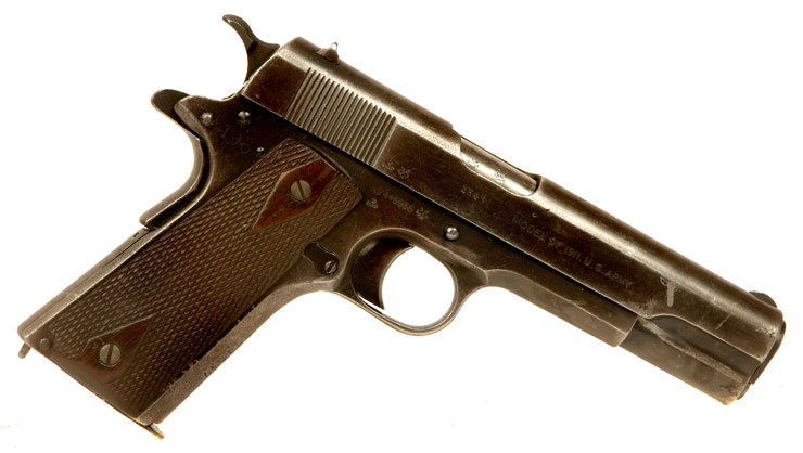 Deactivated Very Rare WWI & WWII Colt 1911