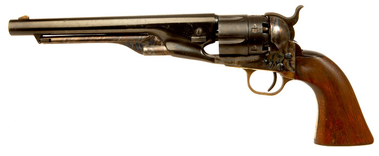 Deactivated Italian Colt 1860 Army Percussion black powder revolver