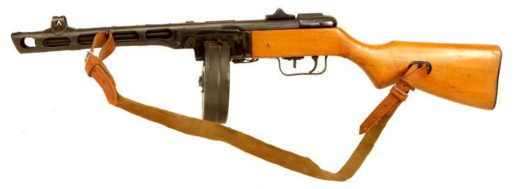 Deactivated WWII Russian PPSH41 Submachine Gun