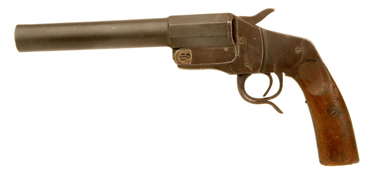 Deactivated First World War issued German Hebel M1894 Flare/Signal pistol