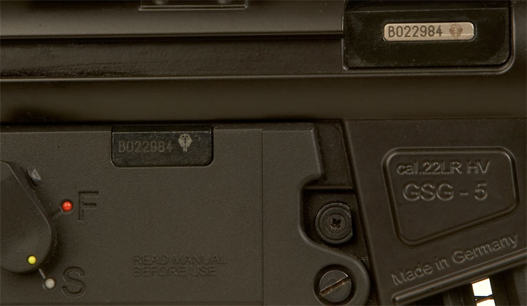 GSG-5 MP5 Clone  22 Semi Auto Rifle - Live Firearms and Shotguns