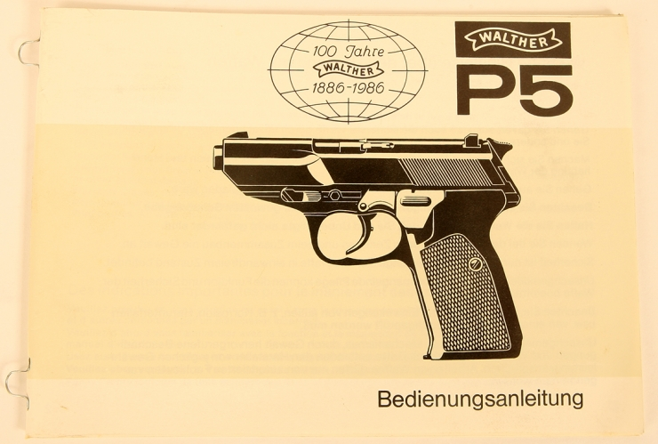 Walther P5 pistol owners manual