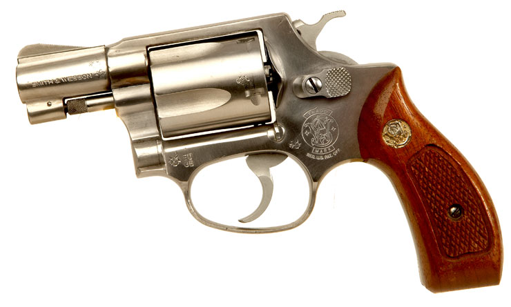 Deactivated Smith & Wesson Snub Revolver
