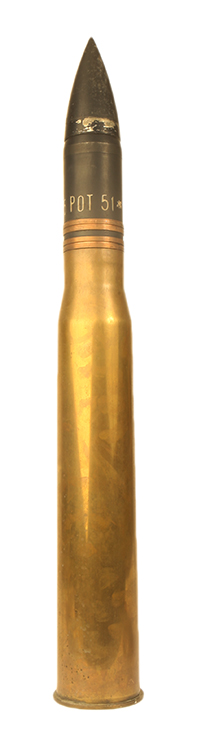 75mm experimental armour piercing tank round.