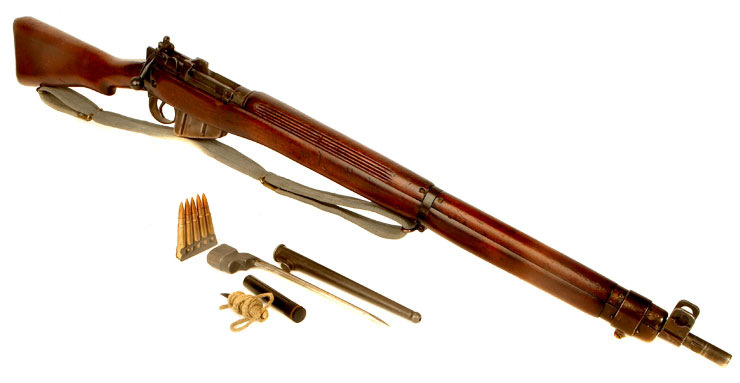 Deactivated WWII Lend Lease Lee Enfield No4 MKI* Rifle with