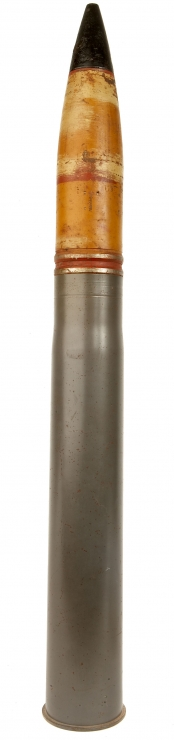 Inert WWII German 88 Shell with removable war head - Militaria