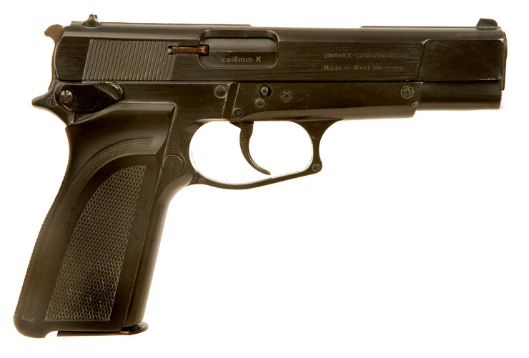 8mm blank firing FN Browning, High Power pistol, model GPDA8