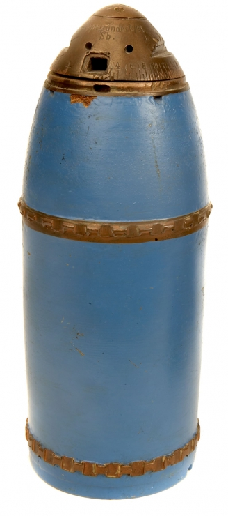 Inert WWI German Doppelzunder  C/91 Fuse on 9cm HE Shell