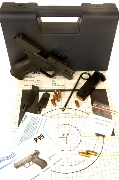Just Arrived, Deactivated Walther P99 with accessories