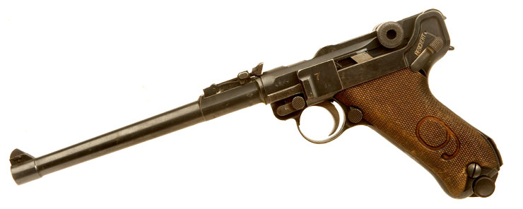 Deactivated WWI German Red 9 Artillery Luger