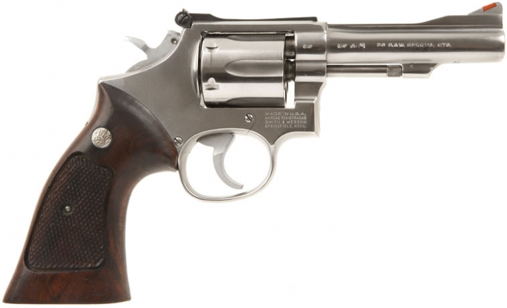 Deactivated smith amp wesson model 64 3 stainless 38 special revolver
