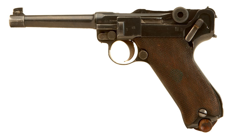 Deactivated RARE PO8 Artillery Luger chambered in 7.65mm
