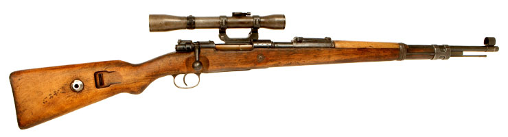 Deactivated WWII German K98 fitted with ZF39 Scope Rail & Mounts