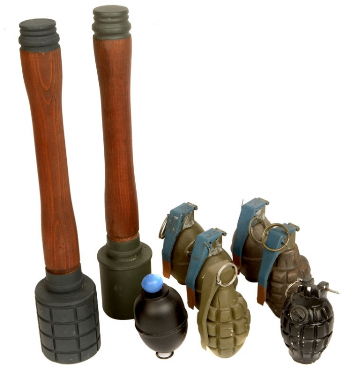 A selection of Dummy Grenades