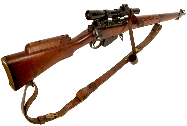 303 British Sniper Rifles http://www.deactivated-guns.co.uk/deactivated-guns/allied-deactivated-guns/deactivated-wwii-british-made-no4t-sniper-rifle/prod_2139.html