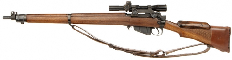 303 British Sniper Rifles http://www.deactivated-guns.co.uk/live-firearms-and-shotguns/wwii-british-no4t-mk1-sniper-rifle-with-no32-mk1-scope/prod_580.html