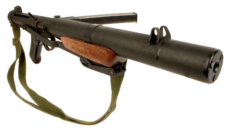 Deactivated Sterling MK5 L34A1 silenced submachine gun