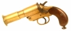 Deactivated WWI Wolseley manufactured MKIII* brass flare pistol