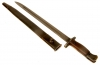 WWII D-Day Era SMLE 1907 bayonet & scabbard.