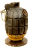 WWI British Mills Grenade fitted with Rifle Cup Grenade Attachment