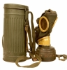 WWII German M38 Gas Mask & Canister