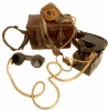 RARE Regimentally Marked WWI British Field Telephone complete with Case & Straps
