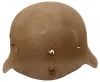 A genuine WWII German helmet.