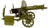 Deactivated WWII Maxim model 1910 Machine gun with Sokolov Wheeled Carriage