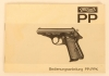 Walther PP & PPK pistols owners manual