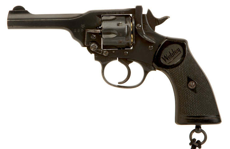 Deactivated RARE Webley MK4 Issued to Hong Kong Police